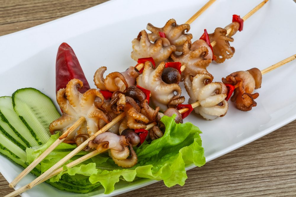 Chargrilled Baby Octopus With Roasted Capsicum