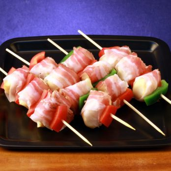 Bacon and Fish Kebabs