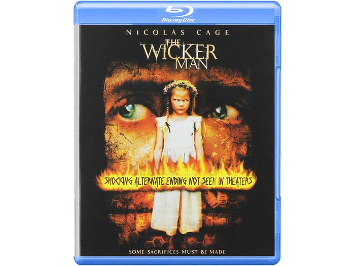 Blu Ray case for The Wicker Man remake