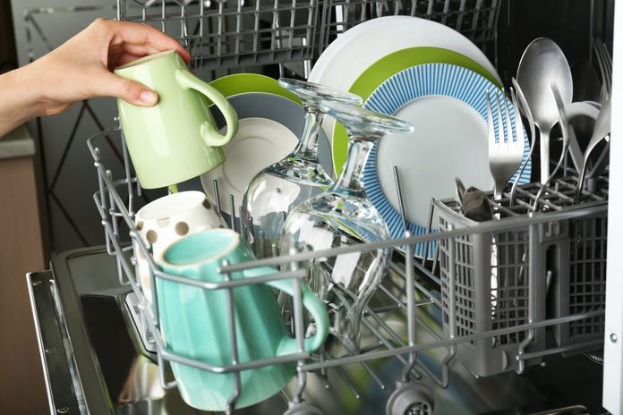 Taking cup out of dishwasher