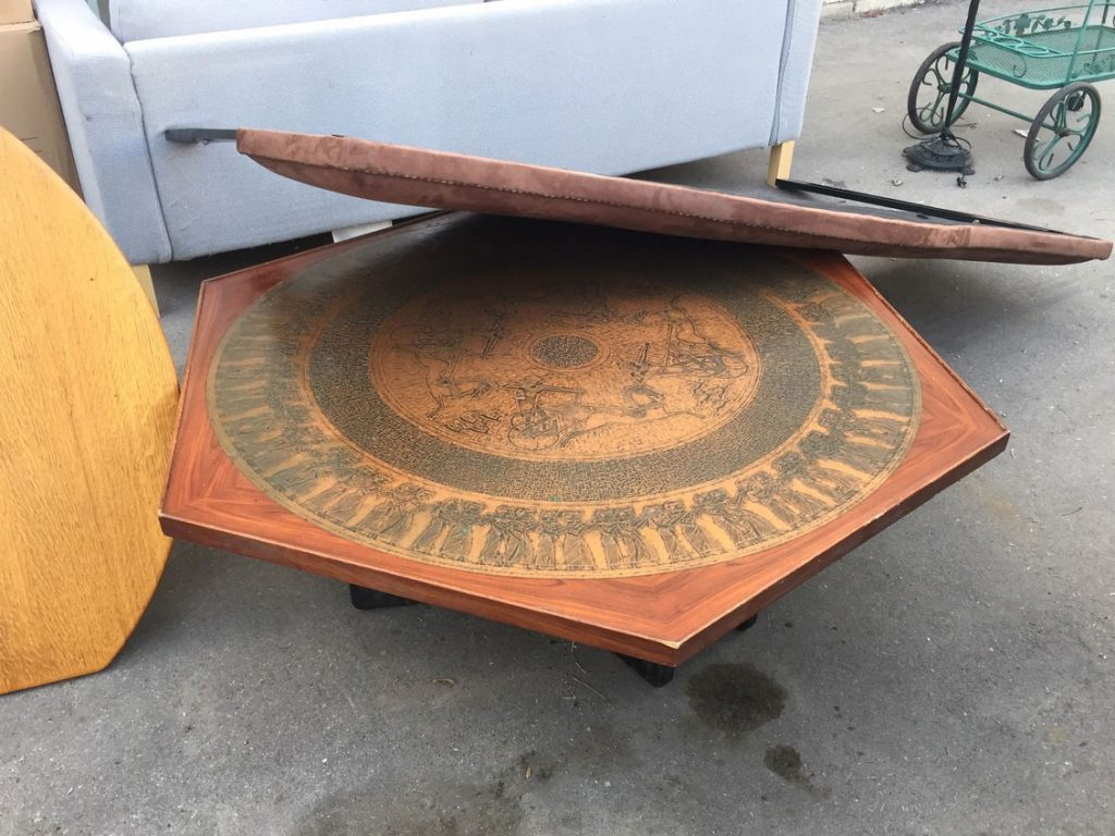 Dated looking hexagonal coffee table