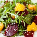 Graham Elliot's Arugula Salad with Asian Pear and Roasted Beets