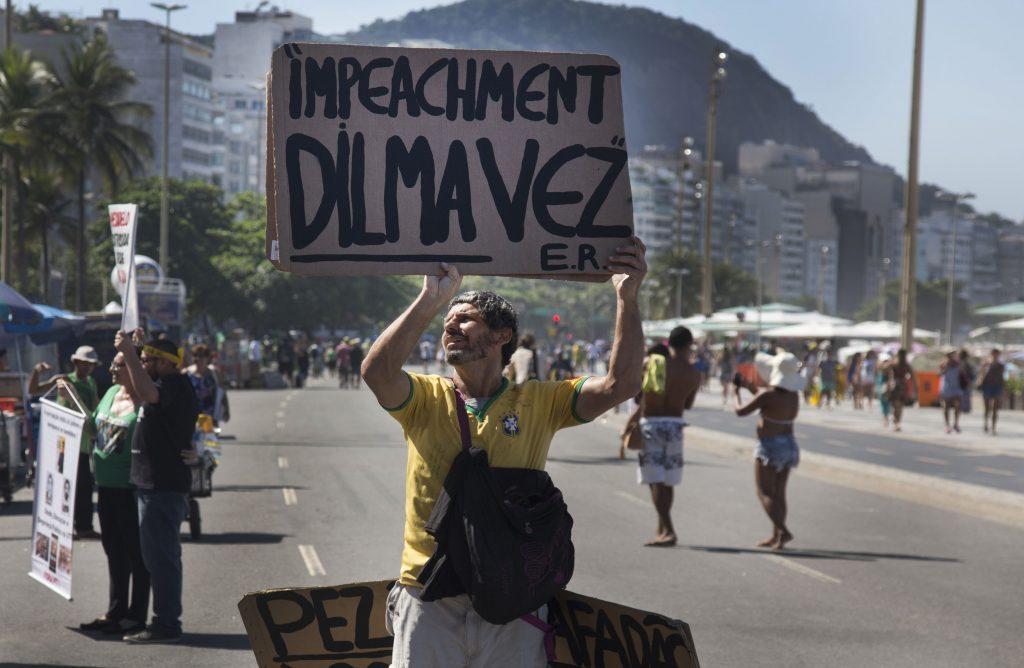 Protestor in Rio de Janeiro