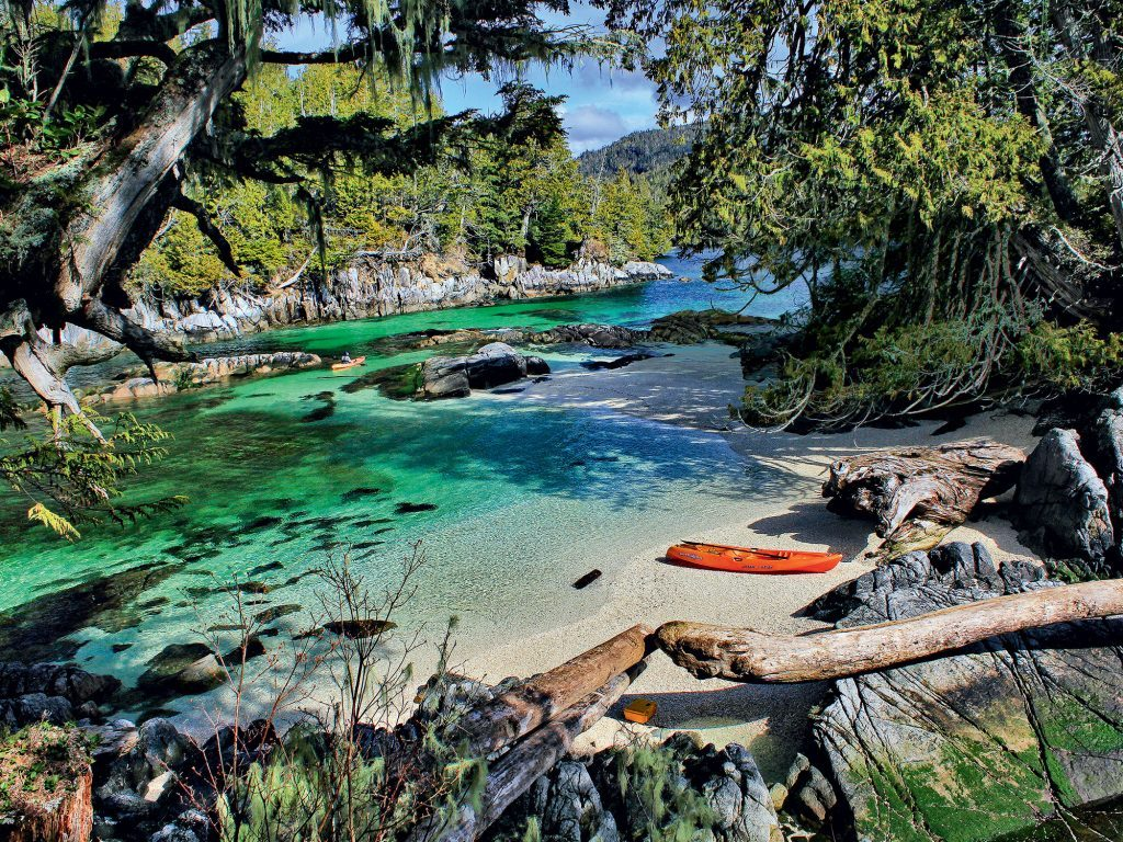 Lagoon on Calvert Island, British Columbia
