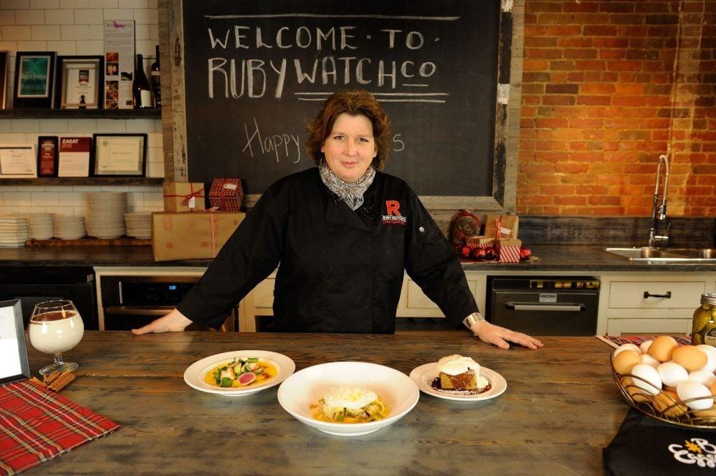 Lynn Crawford in a kitchen