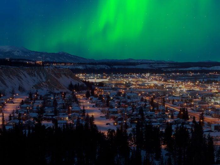 Aurora borealis over Whitehorse, Yukon