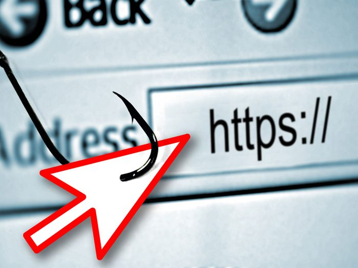Look for HTTPS in the URL