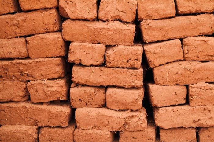 word power test - Adobe bricks drying in the sun