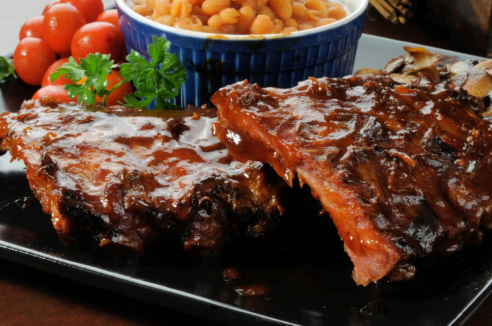 Baby back ribs with bbq glaze