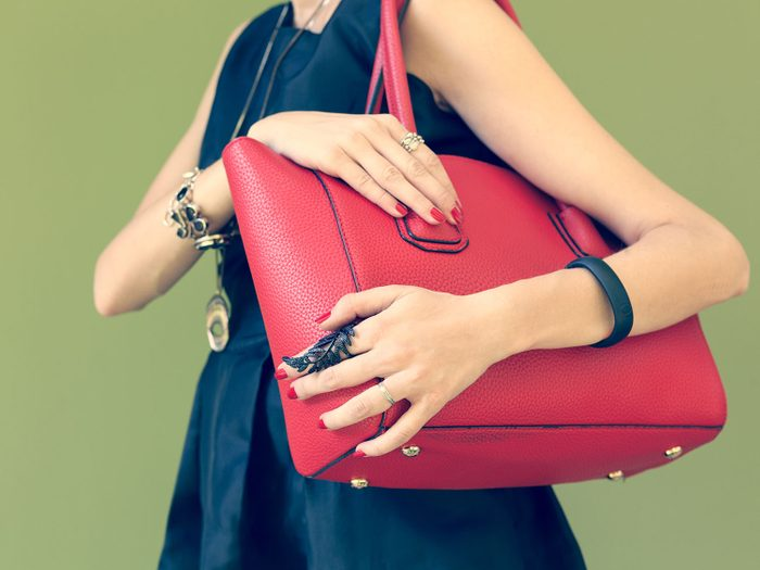 Heavy handbag causing back pain