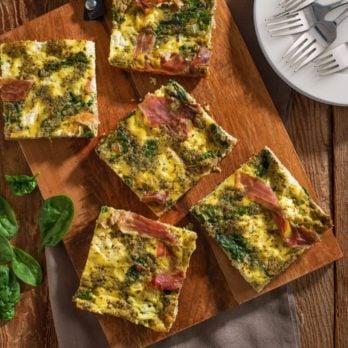Lynn Crawford's Baked Parma Ham, Pesto and Ricotta Frittata