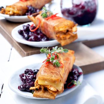 Beer-Braised Duck Sandwiches with Wild Blueberry Chutney