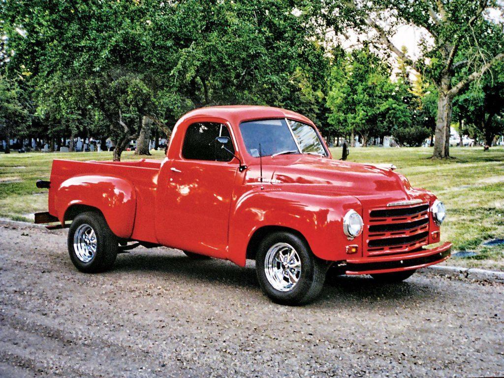 Restored red Studebaker