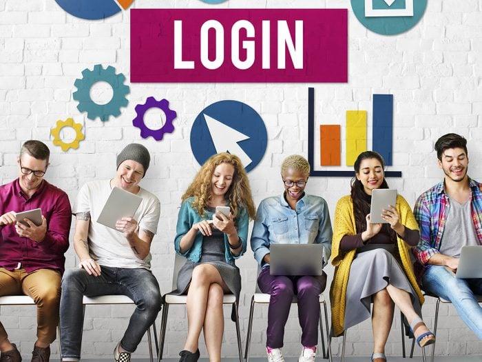 Entering website login information