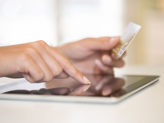 Entering credit card information online