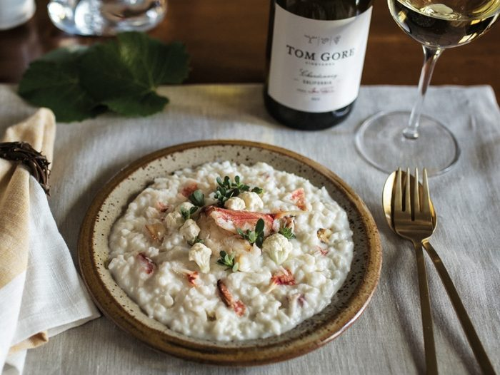Dungeness Crab and Cauliflower Risotto