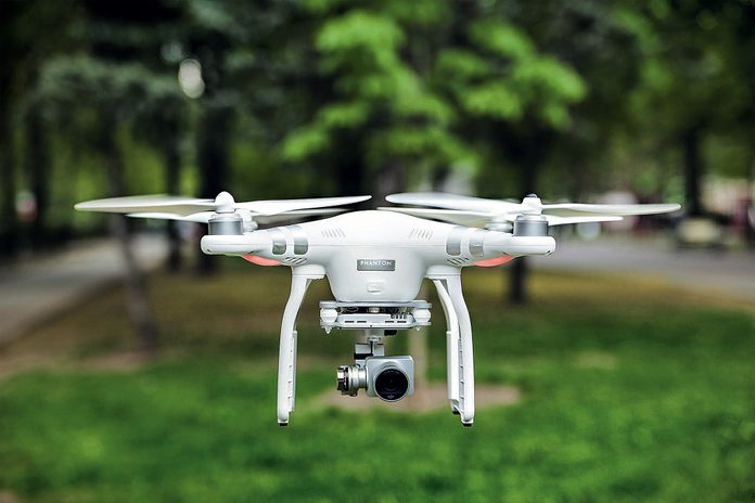 Close-up of drone