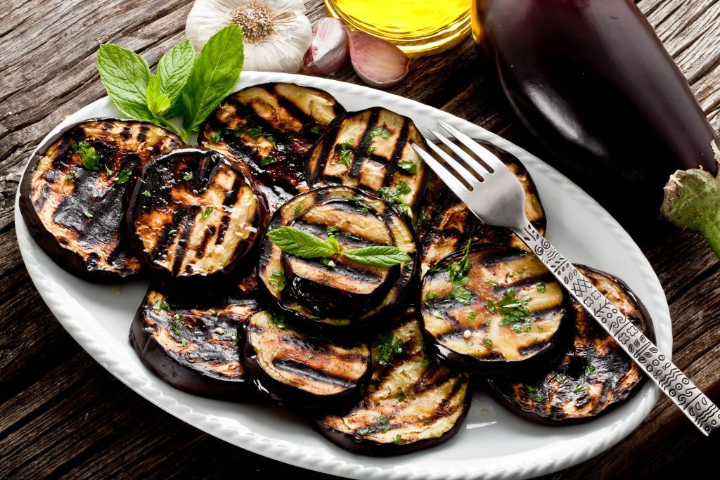 Grilled Eggplant With Herbs and Balsamic Vinegar