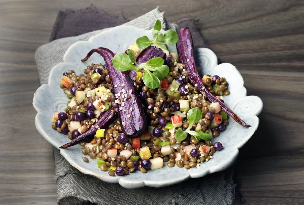 Lentil Salad with Wild Blueberry Dressing