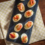 Lobster devilled eggs
