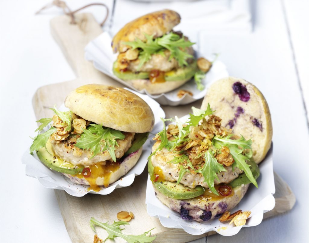 Chicken and blueberry sliders