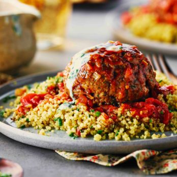 Moroccan Meatball with Lemon Chive Quinoa
