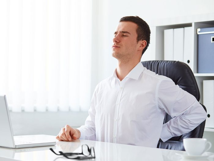 Back pain at the office