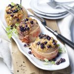 Bacon-Wrapped Onions with Wild Blueberry and Cheese Filling