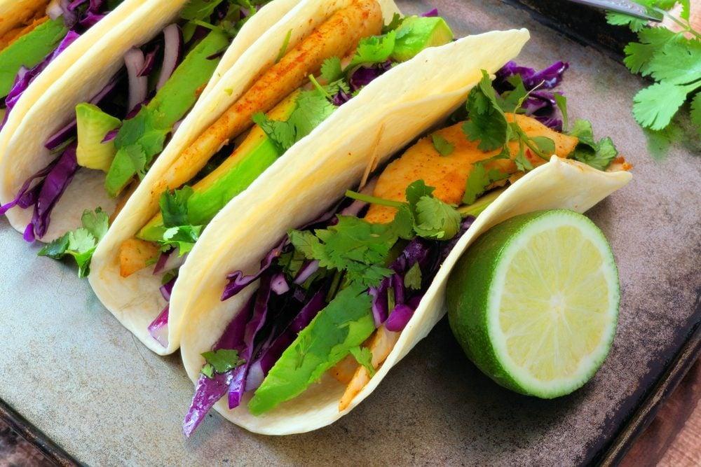 Swordfish taco