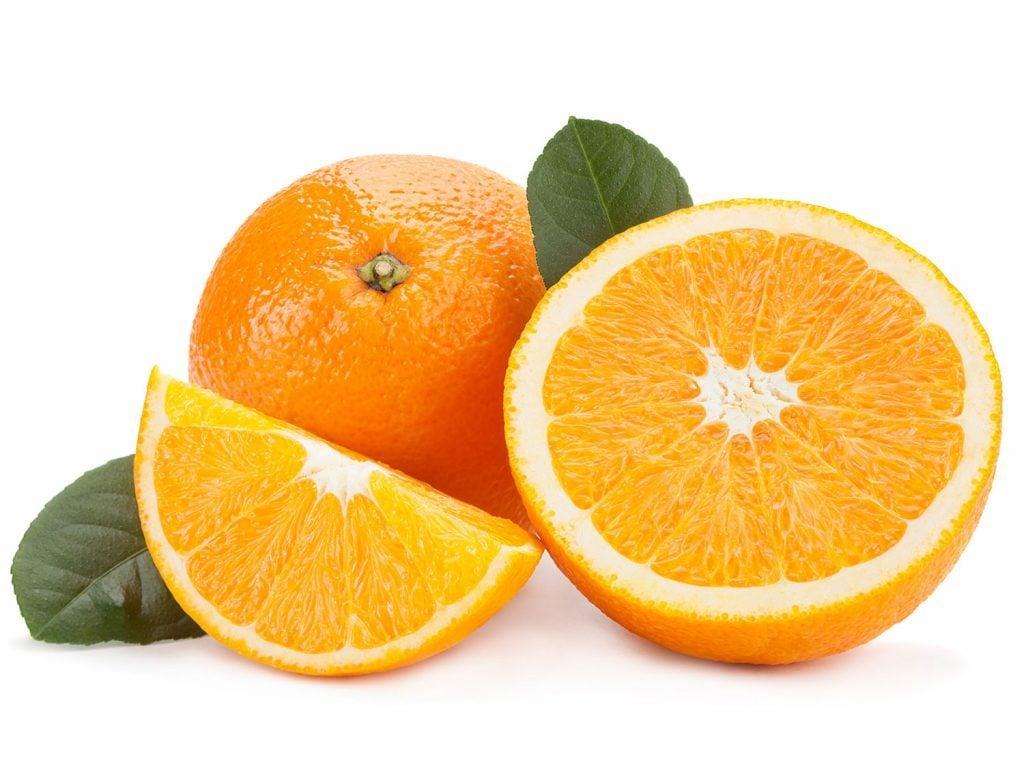Sliced orange to be used as potpourri