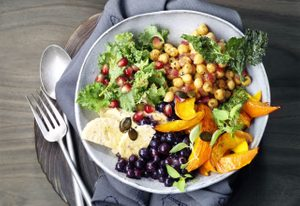 Buddha Bowl with Wild Blueberries & Citrus Cider Maple Dressing
