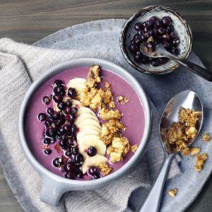 Wild Blueberry Smoothie Bowl with Walnut Crunch