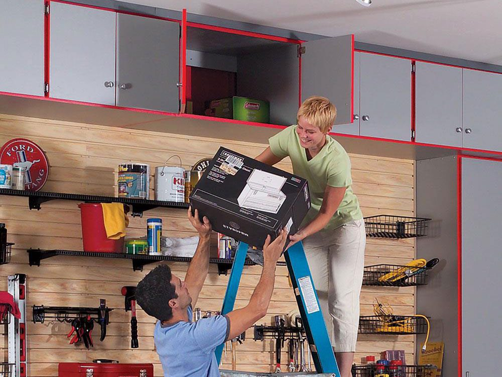 Add high shelves and cabinets to your garage