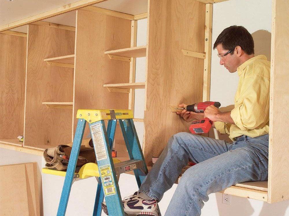 Build DIY garage cabinets