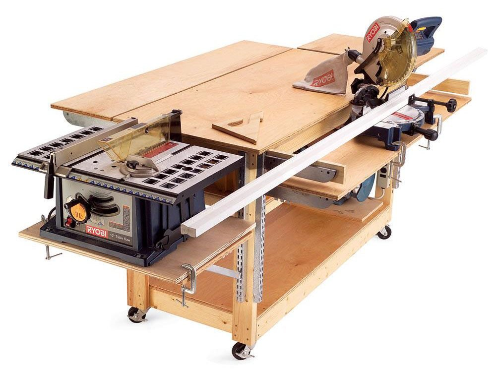 Build a rolling workbench for your garage