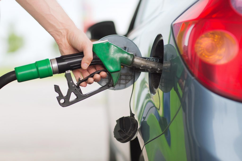 Man getting fuel for his car