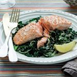 Chargrilled Salmon with Sautéed Greens