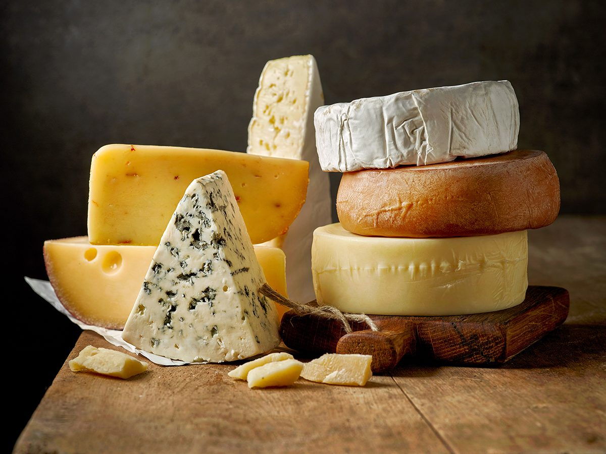 How to improve gut health - cheeses