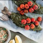 Rainbow Trout Baked in Vine Leaves