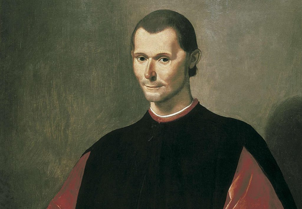 Painting of Machiavelli