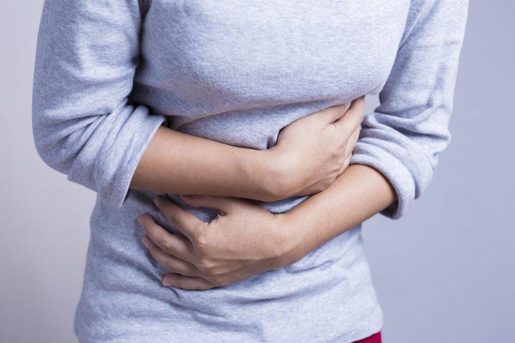 Woman having a stomach ache