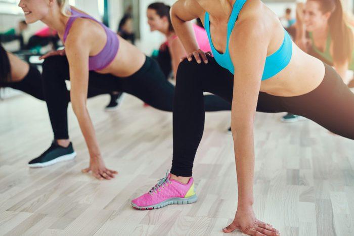 Female aerobics class