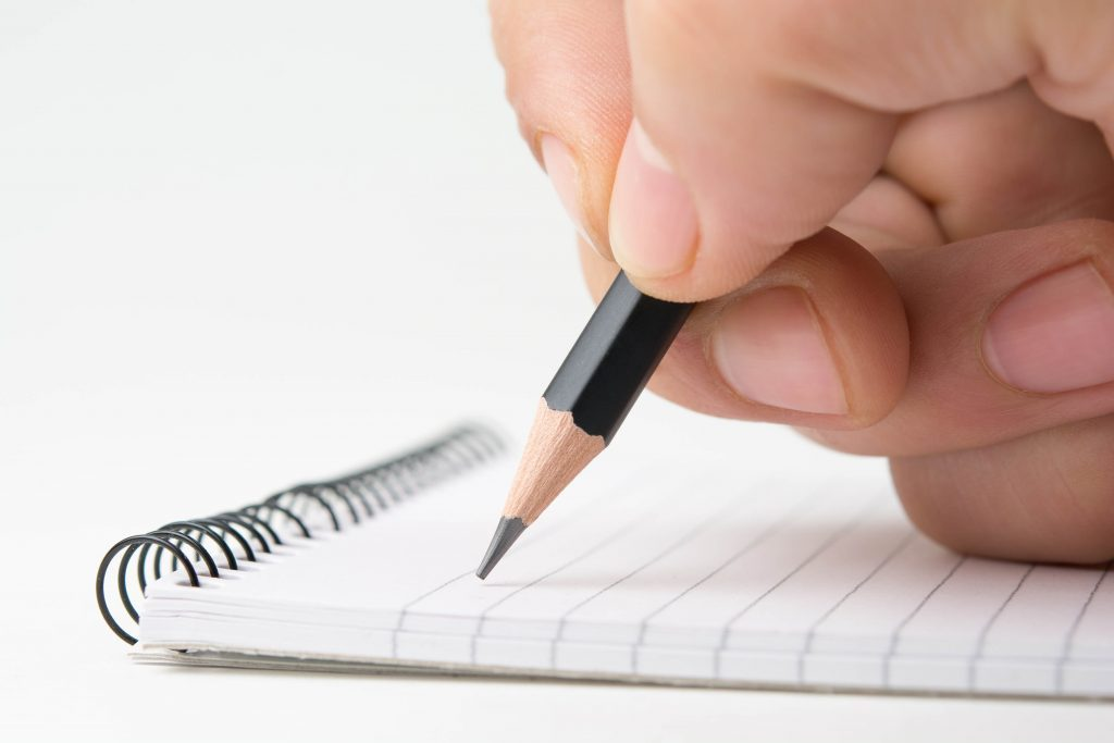 Writing in notepad