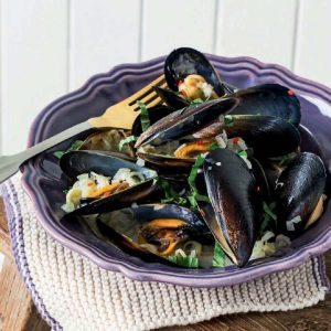 Thai-Style Mussels with Chili and Basil