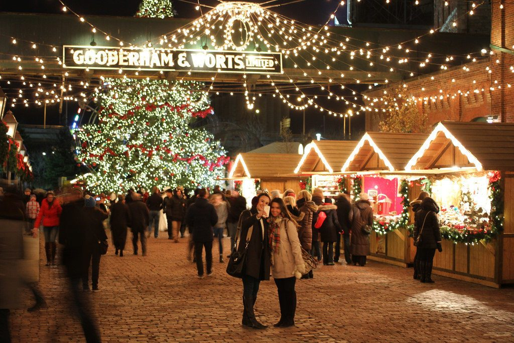 Christmas market at the Distillery District in Toronto