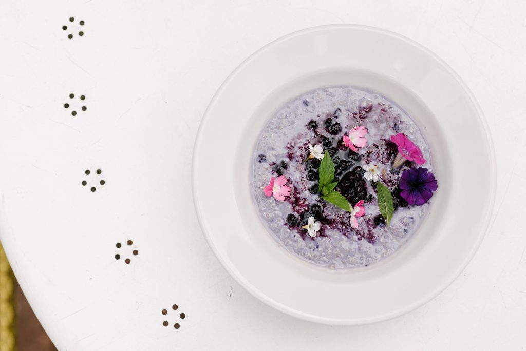 Wild blueberry recipe by Luis Valenzuela, Carmen Restaurant