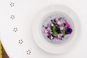 Wild Blueberry and Quinoa Pudding