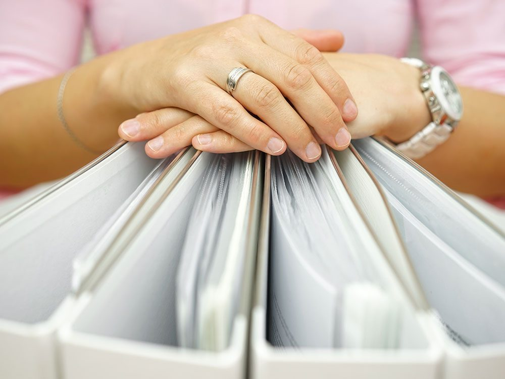 Apartment hunting paperwork