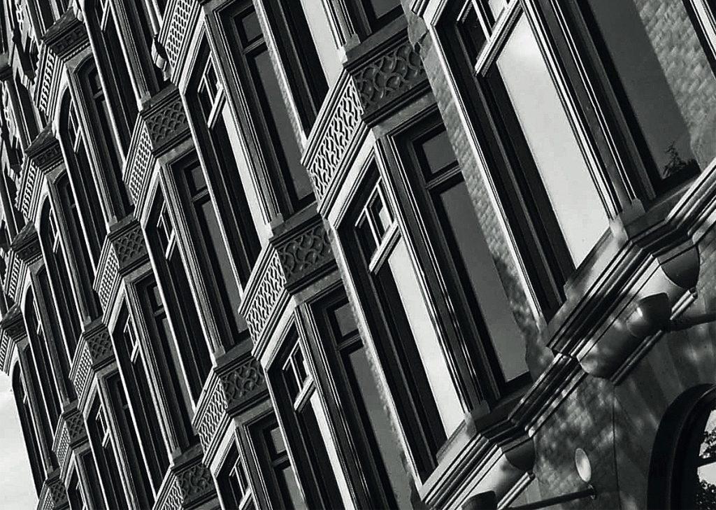 Windows of building in Ottawa