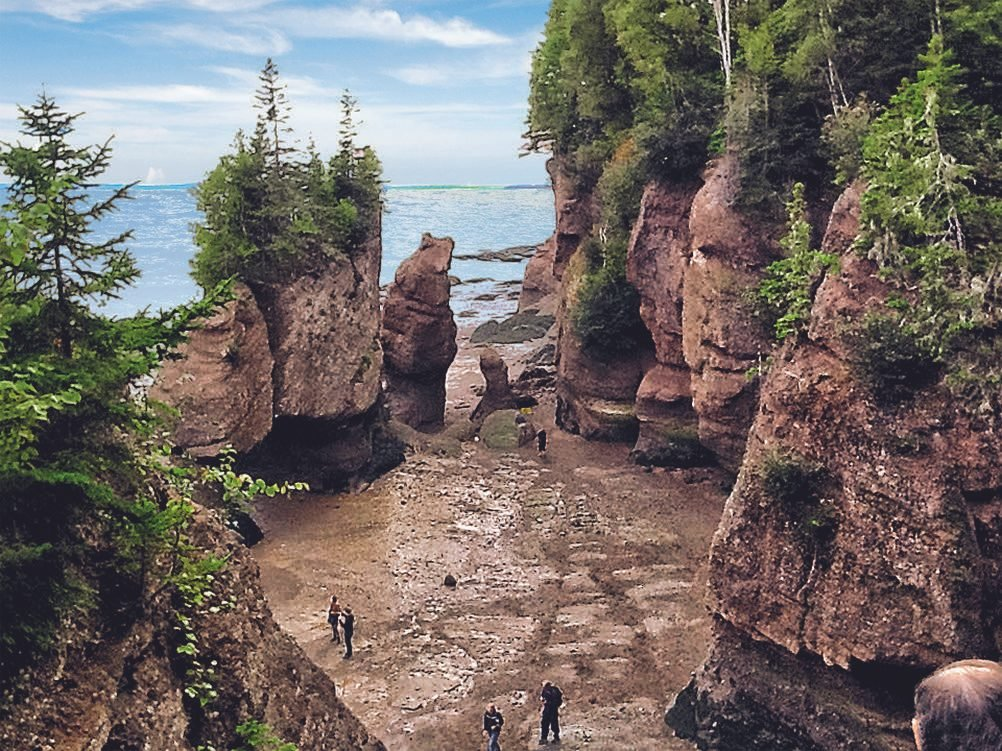 "Rock formation known as ""The Bear"" at Hopewell Rocks on the Bay of Fundy"